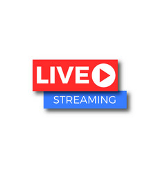 live stream tv logo icon vector image vector image