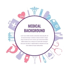 Medical background template vector image