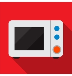 Microwave flat icon vector