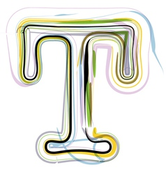 Organic font letter t vector