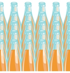Pattern lemonade bottle vector image
