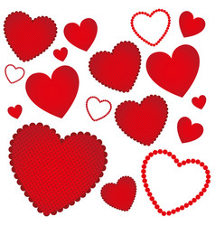 red hearts background icon vector image