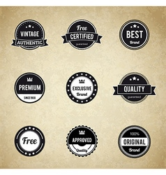 retro badge eps 10 Premium Quality labels vector image vector image