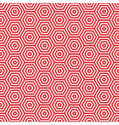 Retro red seventies pattern vector image vector image