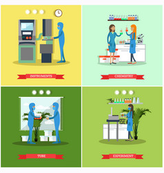 Set of scientific research laboratories vector