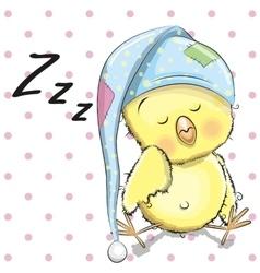 Sleeping Chicken vector image vector image