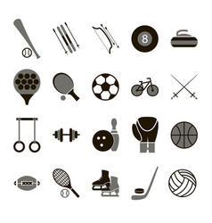 Sport icon signs and symbols black set vector