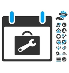 Toolbox calendar day icon with bonus vector