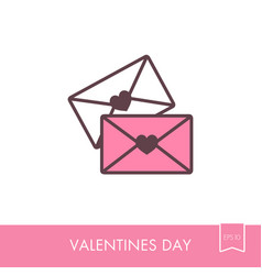 two envelope icon love letter vector image