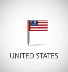Usa flag pin vector