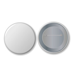 White badge with place for your text vector