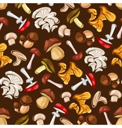Forest mushrooms seamless pattern wallpaper vector