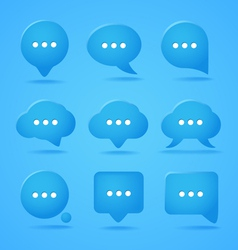 Abstract speech clouds ready for a text vector