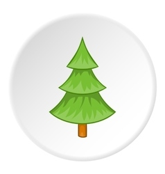 Fur tree icon cartoon style vector