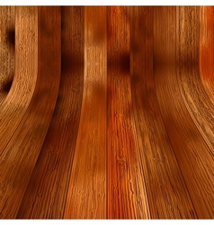 Wooden planks interior with illuminated  eps8 vector