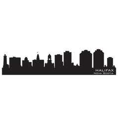 Halifax Canada skyline Detailed silhouette vector image