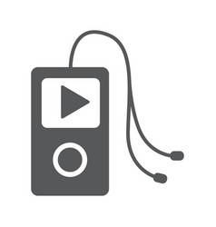 Music player icon vector
