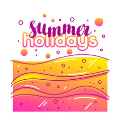 Summer holidays on sandy beach stylized vector
