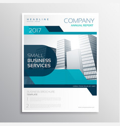 Stylish blue business brochure creative design in vector
