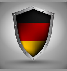 Shield with the german flag vector