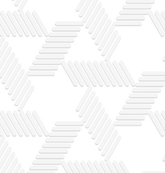 3d white striped blocks forming triangles vector