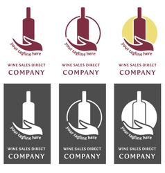 Wine logo company - sales direct vector