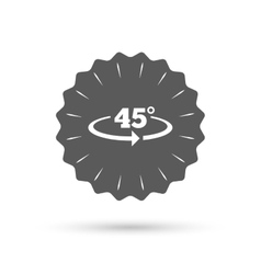 Angle 45 degrees sign icon geometry math symbol vector