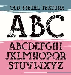 Slab serif font vector image