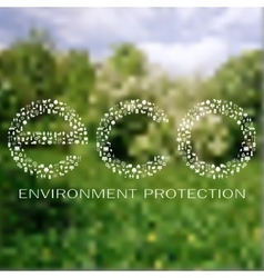 Environment protection background vector