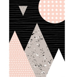 Abstract geometric landscape vector