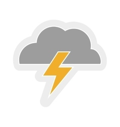 Cloud and thunder design isolated weather icon vector