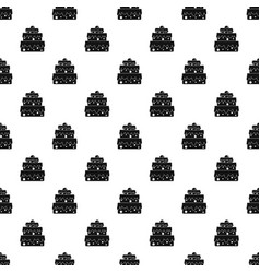 Big cake pattern vector