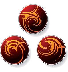 Circular tribal icons vector