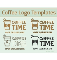 Coffee logo design vector