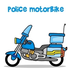 Collection transport of police motorbike vector