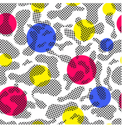 color seamless pattern modern bold vector image vector image