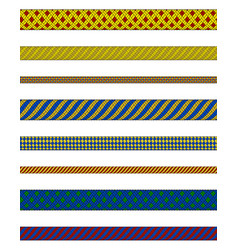 Colorful ropes collection vector