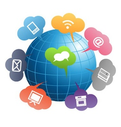 communication globe vector image
