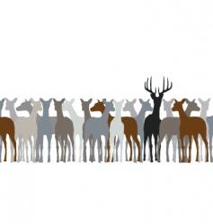 deer herd vector image vector image
