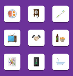 Flat icon oneday set of dental partnership vector