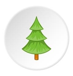 Fur tree icon cartoon style vector image