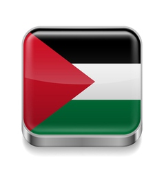 Metal icon of palestine vector