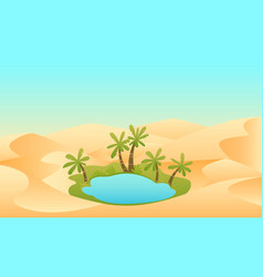 Oasis in the desert vector