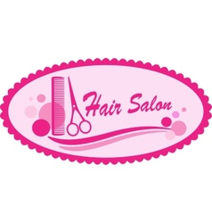 pink hair salon symbol vector image