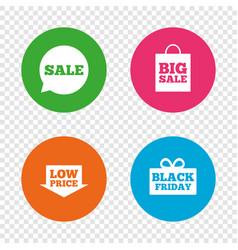 sale speech bubble icon black friday symbol vector image vector image