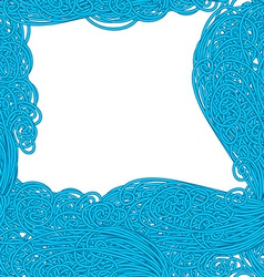 Seamless wave hand-drawn pattern waves vector image vector image