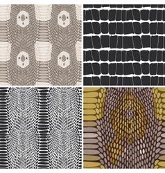 Snake skin texture set seamless pattern vector