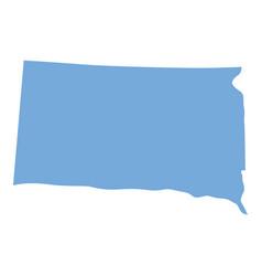 South dakota state map vector