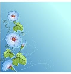 Stylish floral background Design of flowers vector image