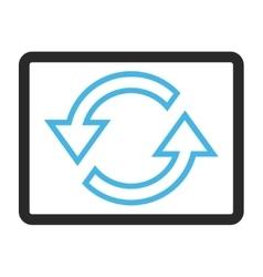 Sync arrows framed icon vector